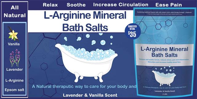 L-arginine Mineral Bath Salts